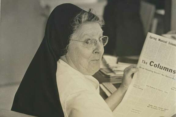 Sister Hilary Beck O.P. (1902-1999) was s historian, science and journalism teacher at St. Agnes Academy on Bellaire —and a mentor to Chronicle columnist Joy Sewing.
