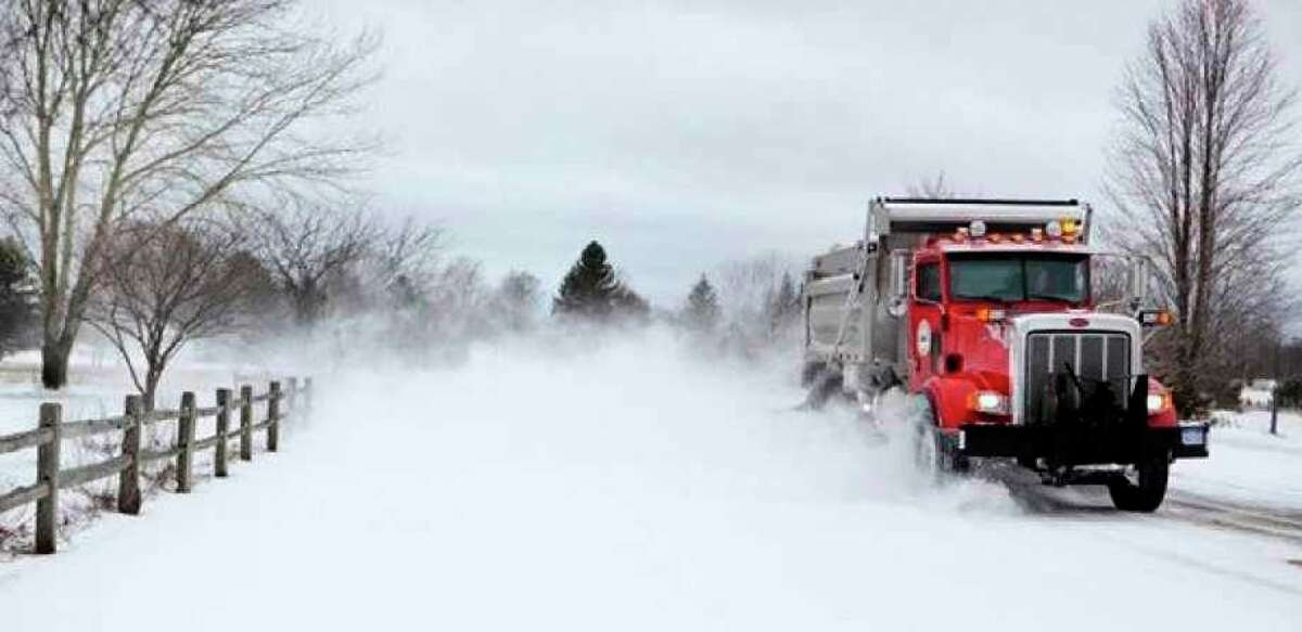 Whenever significant snowfall hits the region, the Mecosta County Road Commission steps into action with its fleet of trucks, laying down proper substances to plow snow and thaw ice, making everyone's commute a little bit safer. (Pioneer file photo)