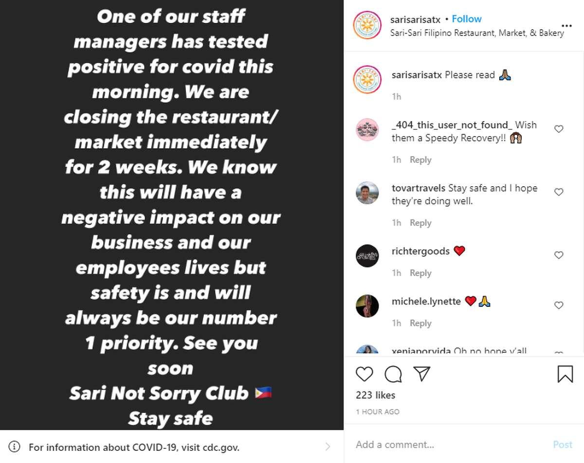 Screenshot from Instagram