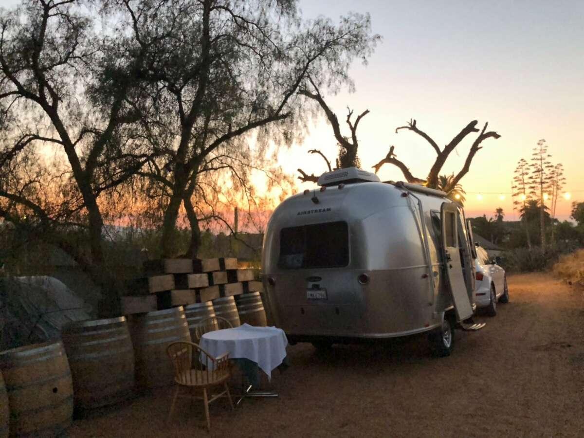 An RV site at the Inn at Tres Pinos in San Benito County.