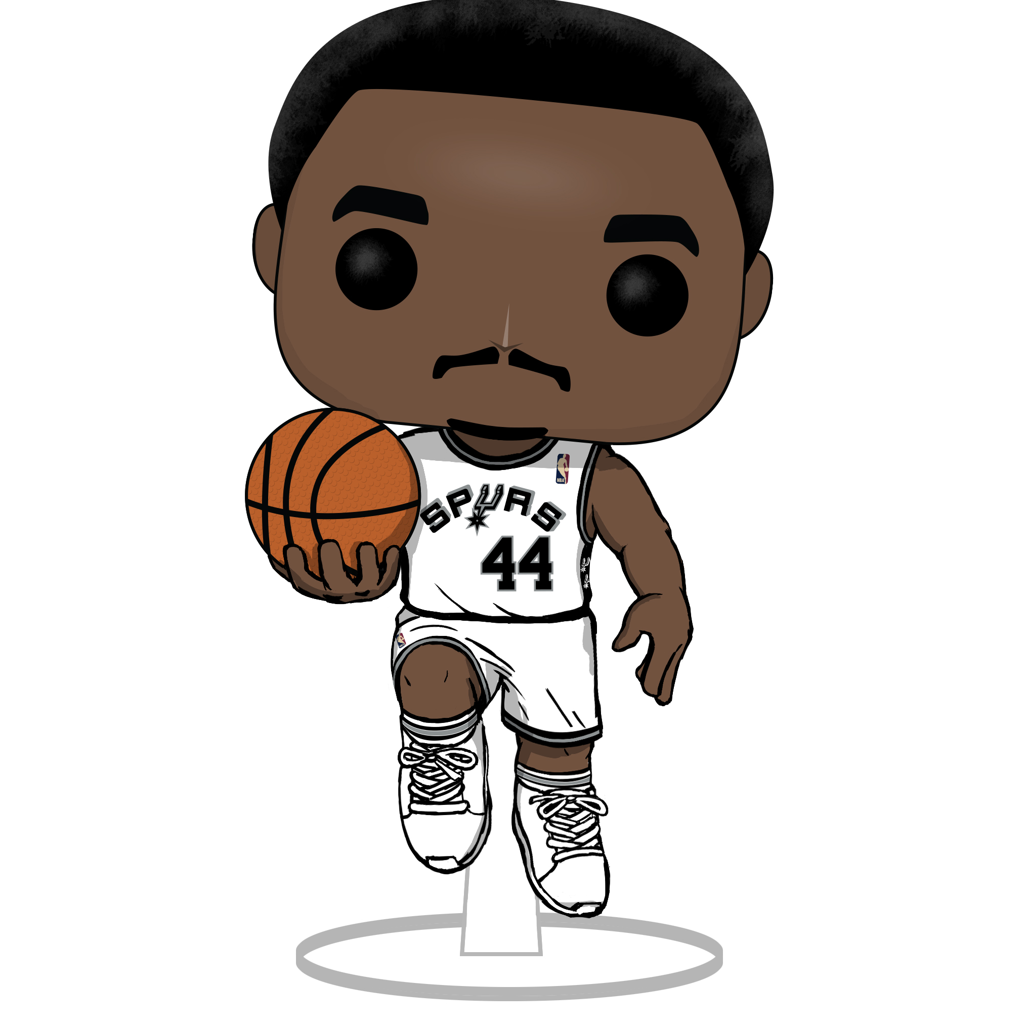 San Antonio Spurs legend George Gervin has his own Funko Pop! Here's how to get it.