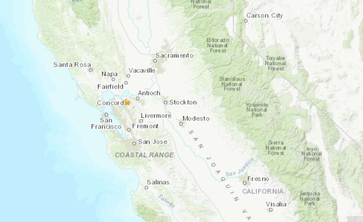 A magnitude 3.1 quake rattled Concord on Thursday afternoon.