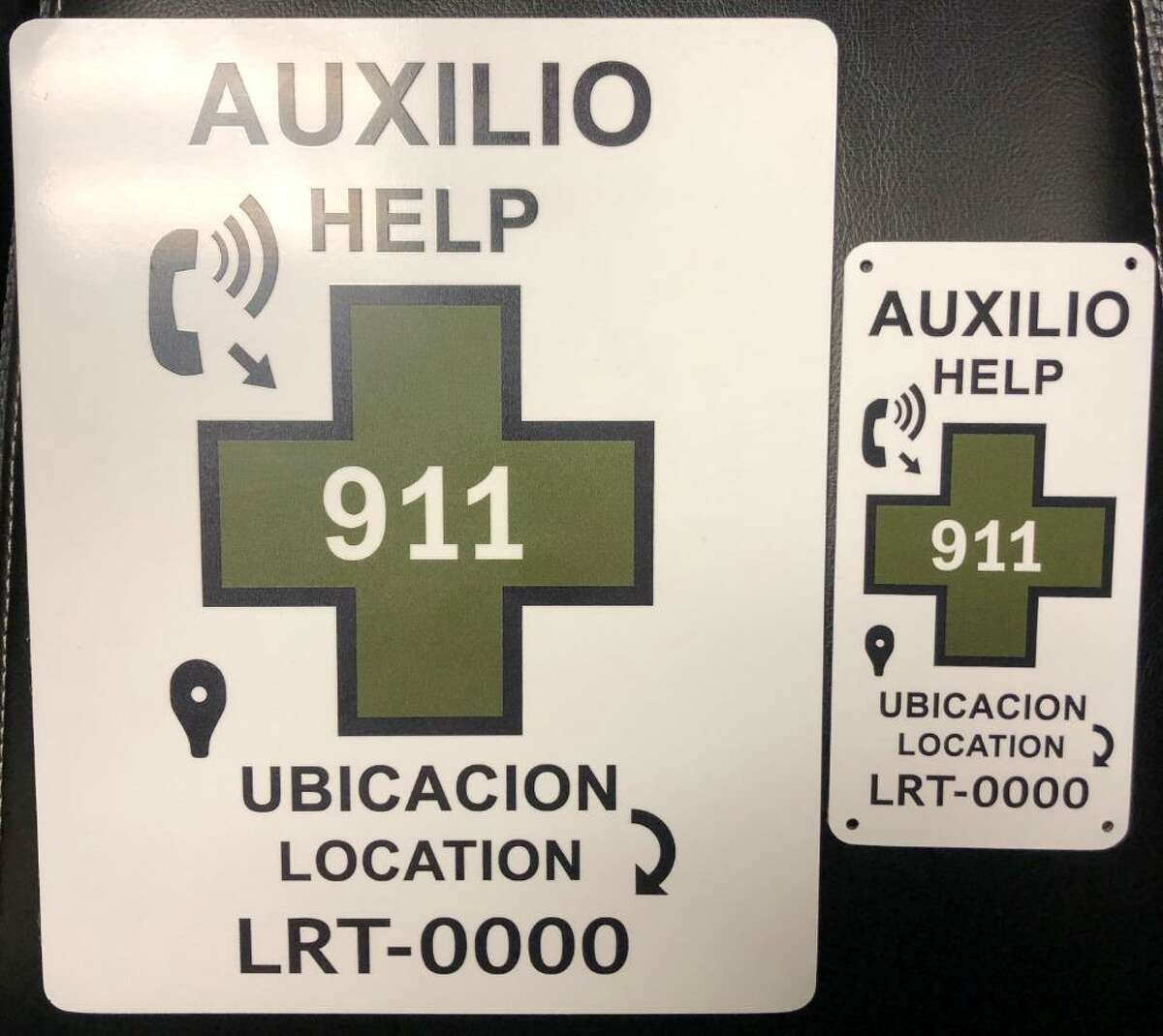 U.S. Border Patrol have placed these placards in strategic locations. Placards come with an identifier to pinpoint the exact location where the immigrants are.