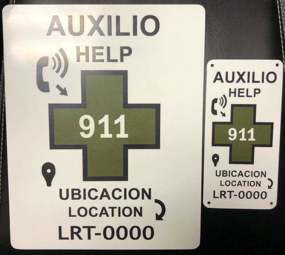 U.S. Border Patrol have placed these placards in strategic locations. Placards come with an identifier to pinpoint the exact location where the immigrants are. Photo: Courtesy Photo /U.S. Border Patrol