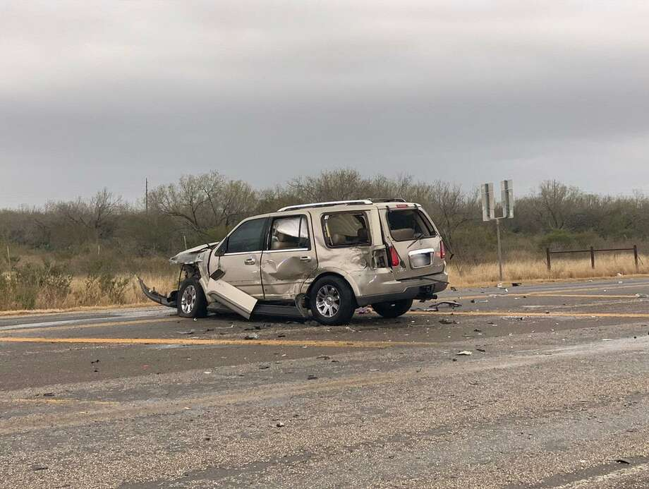 A recent human smuggling attempt reported in northwest Laredo ended with a crash. A civilian driver and two immigrants were taken to a local hospital. Photo: Courtesy Photo /U.S. Border Patrol