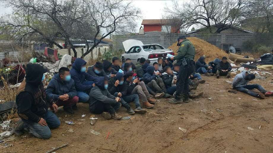 U.S. Border Patrol agents said they discovered 30 individuals inside a home in the City of Rio Bravo. All were determined to be immigrants who had crossed the border illegally. Photo: Courtesy Photo /U.S. Border Patrol