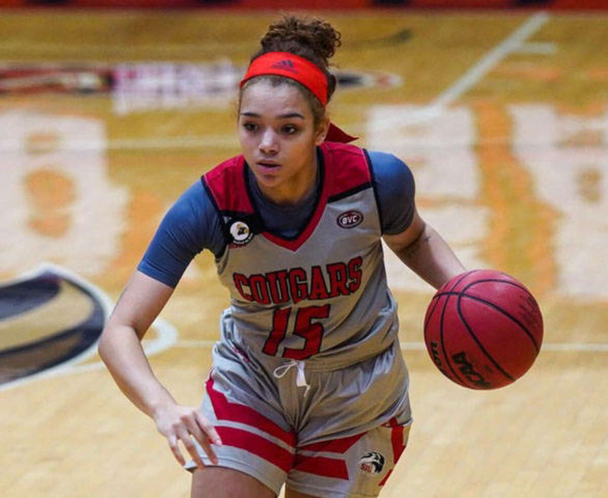 SIUE junior guard Masyn McWilliams scored a team-high 15 points on Thursday to lead the Cougars to a road win at Tennessee State.