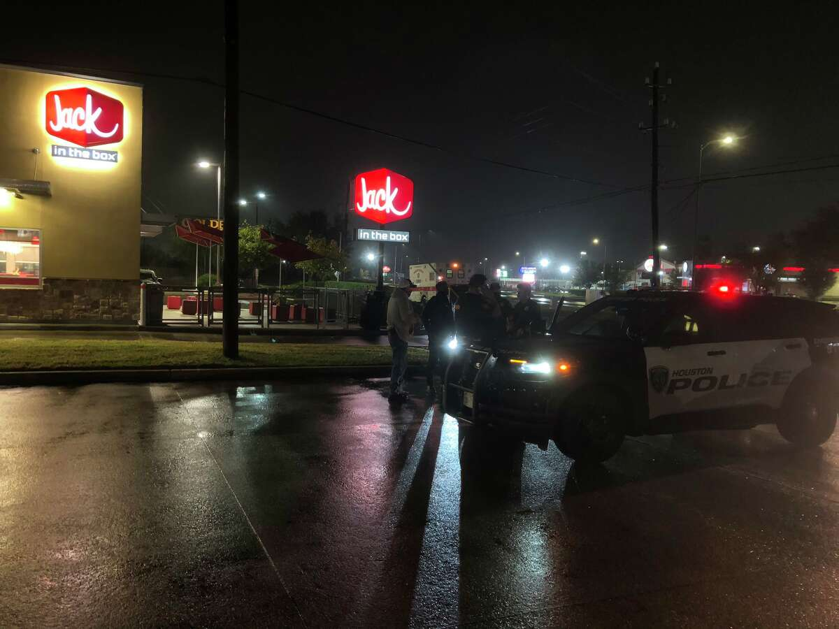 A man was arrested Thursday after stealing an ambulance and driving the vehicle to a fast food restaurant in Houston, police said.