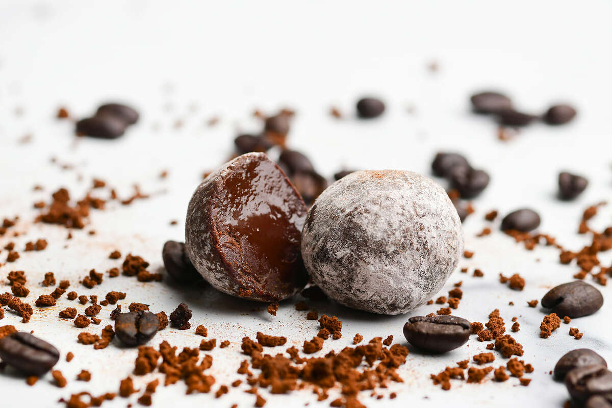 Araya Artisan Chocolate Café's truffle is made with Venezuelan chocolate ganache and infused with Colombian coffee.
