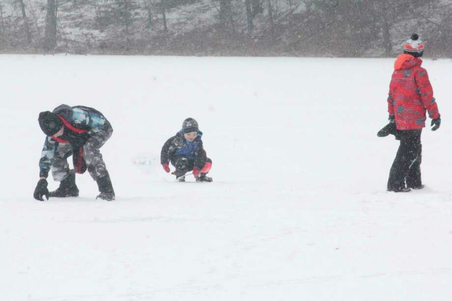 Ice anglers are trying their luck at various lakes. (Pioneer file photo