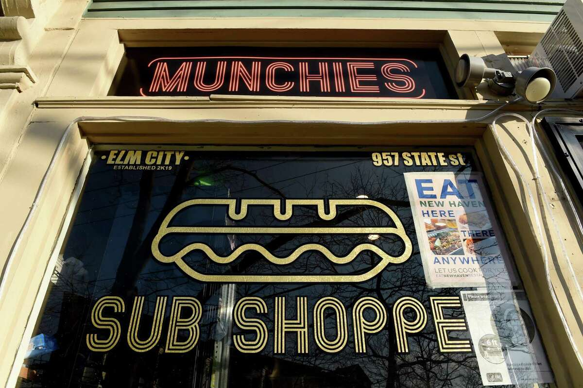 Newly opened business, Munchies, at 957 State Street in New Haven photographed on January 21, 2021. Each merchant used their moment to show off their role as survivors and to ask the public to support them as much as possible. Elicker described Munchies fare as