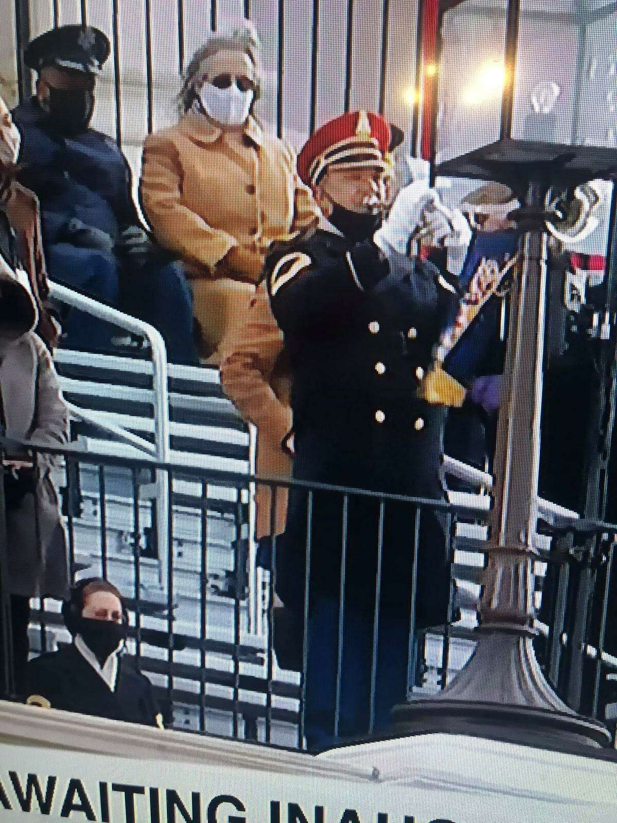 Sergeant First Class Christopher Buckley performs during the 46th Presidential Inauguration of President Joseph Biden.