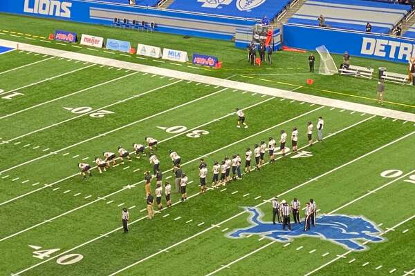 The Ubly Bearcats take on the Centreville Bulldogs in the MHSAA Division 8 championship game at Ford Field in Detroit.