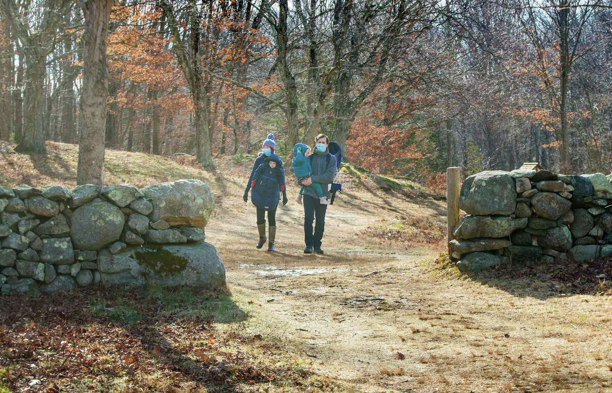 People recently walk in Weir Farm in Wilton, Connecticut. Episode 5 of the national historic site's
