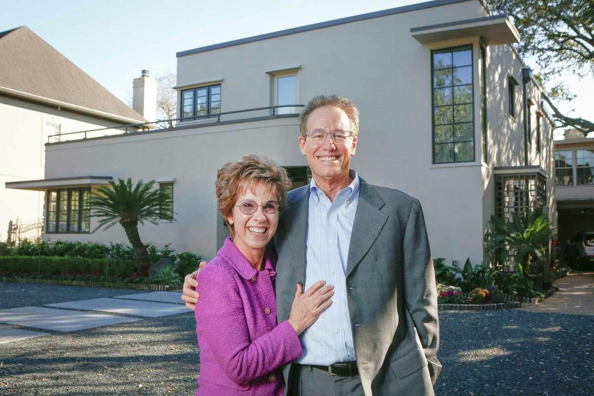 Linda and John Thomas' historic home in River Oaks Tuesday, Jan. 5, 2021, in Houston.