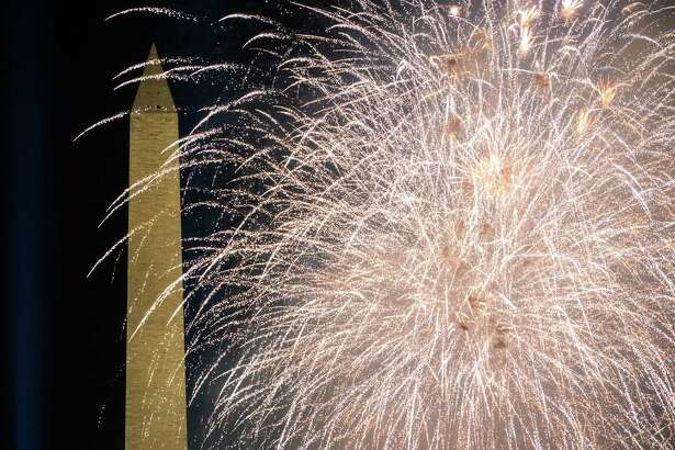 The massive fireworks show that brought an end to inauguration day on Wednesday.
