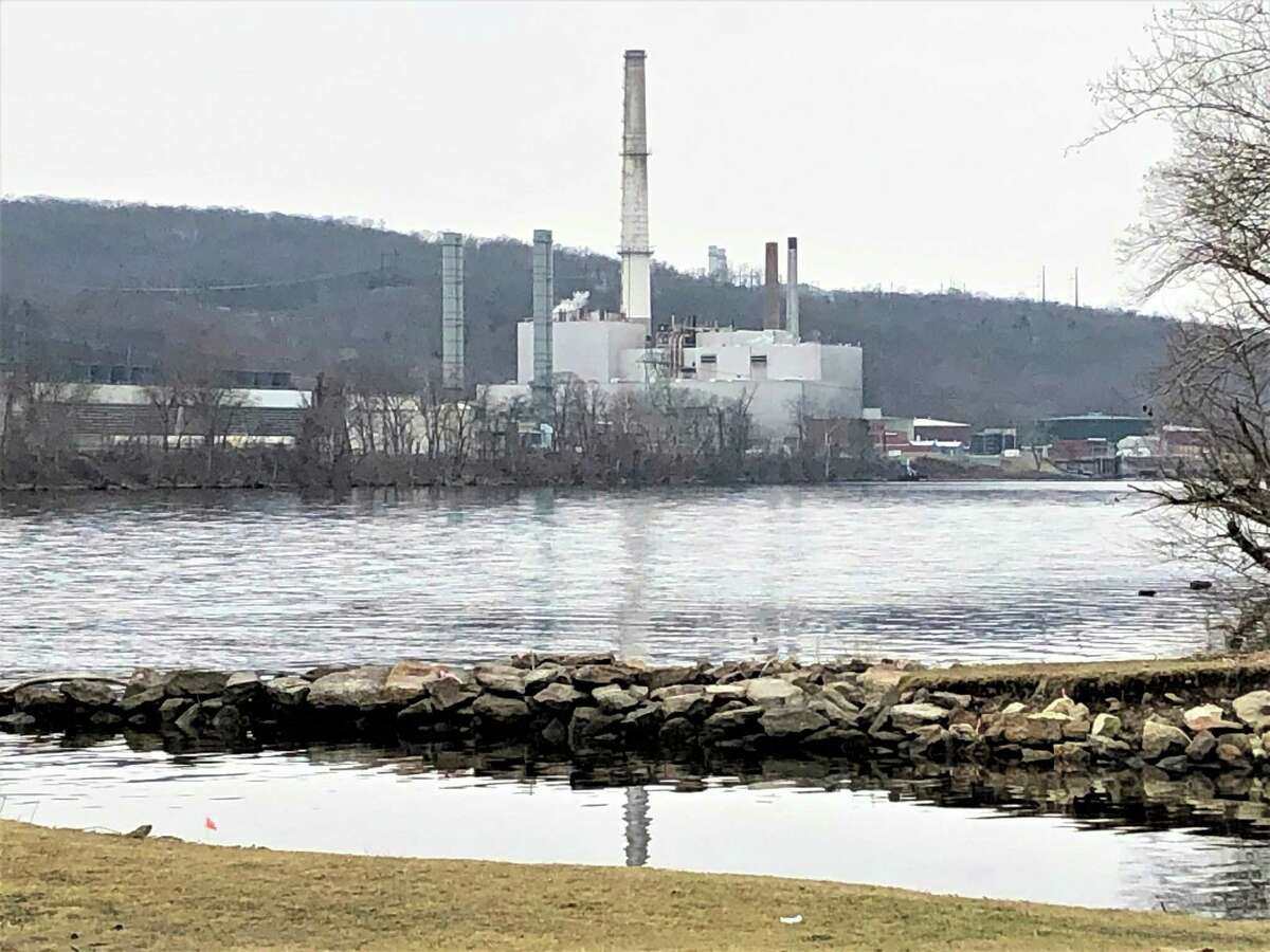 The NRG plant at 1866 River Road in Middletown is shown from the Airline Trail.