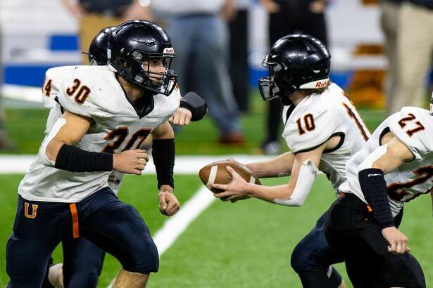 The Centreville Bulldogs topped the Ubly Bearcats in the Division 8 championship game at Ford Field in Detroit on Friday. the Bulldogs won, 22-0.