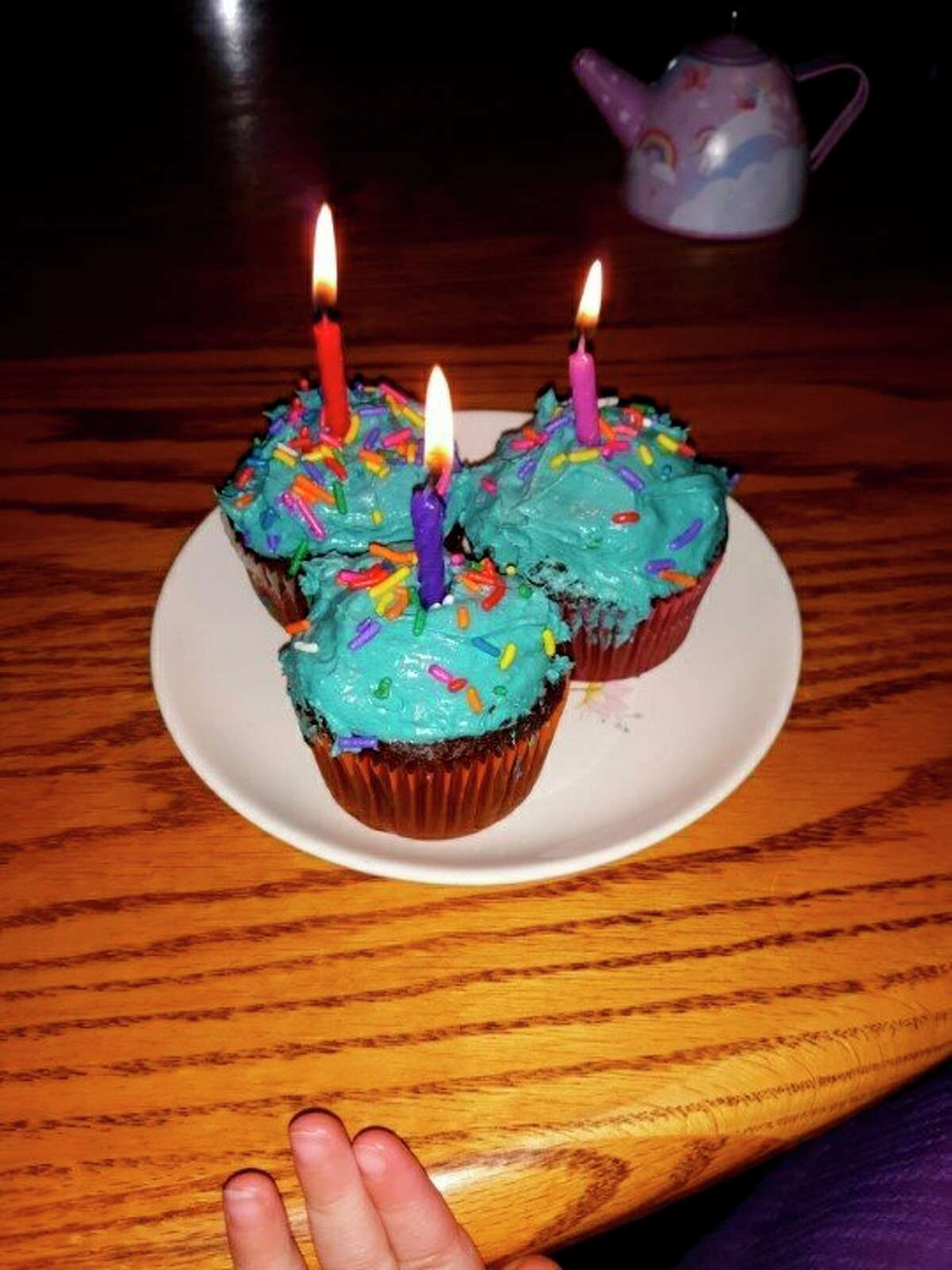 Cupcakes made by Lovina's daughter Elizabeth for Jennifer's birthday celebration. (Courtesy photo)