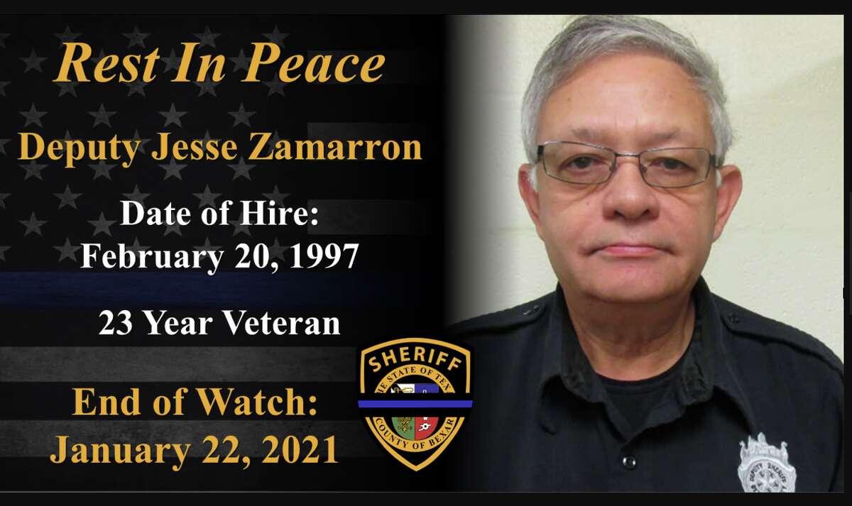 Jesse Zamarron, 68, was a 23-year veteran of the Bexar County Sheriff's Office.