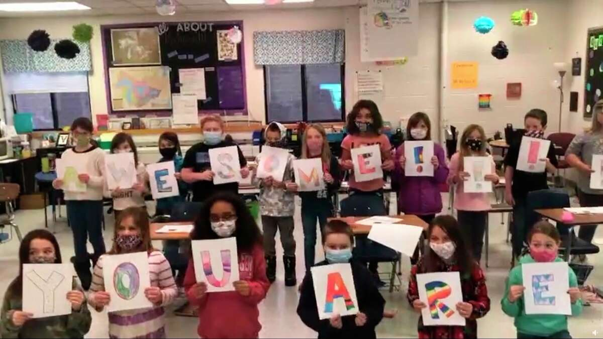 Students at Kaleva Norman Dickson Schools showed their appreciation for the members of their school board with a short video that was played at KND's January school board meeting. (Screenshot/Facebook)