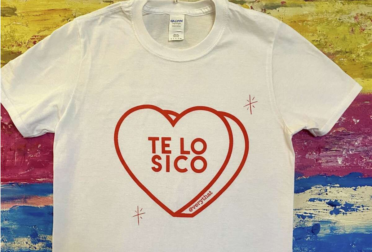 Te Lo Sico Tee - White and Red Tee from Cristina Martinez of Very That.