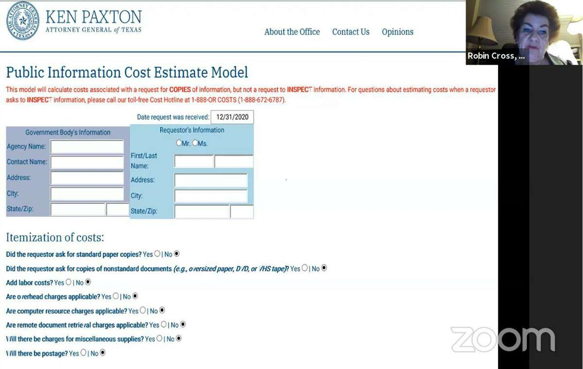This cost calculator on the Texas attorny general website allows anyone to estimate the cost of what a request under the Texas Public Information Act may be before making it. Township officials are researching the issue after several directors asked for an official policy to ensure fairness.