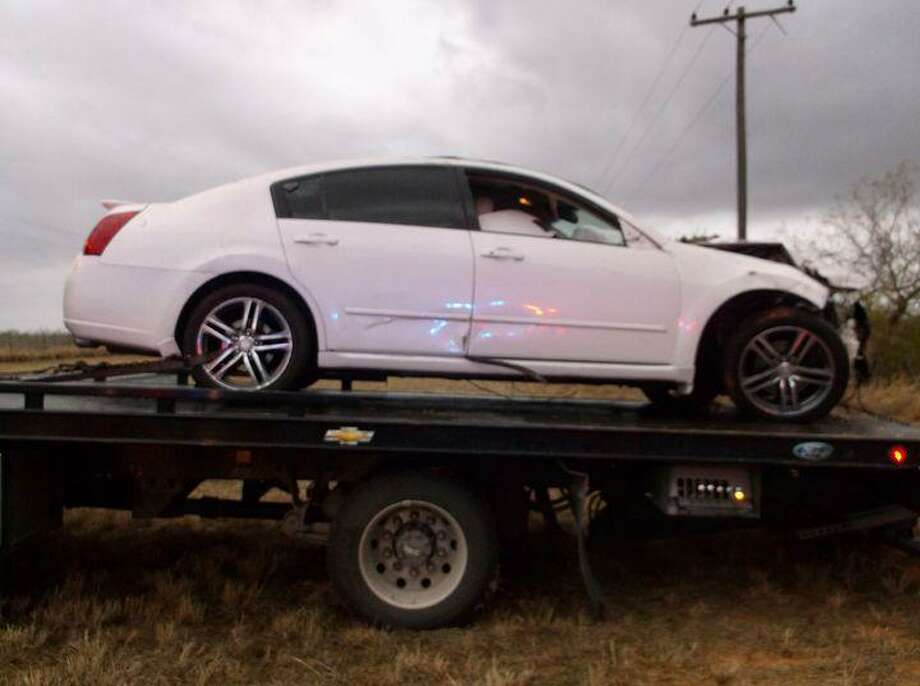 State authorities said the driver of this vehicle eluded capture following a traffic stop in Jim Hogg County. The vehicle was allegedly reported stolen out of the Corpus Christi Police Department. Photo: Courtesy Photo /Texas Department Of Public Safety