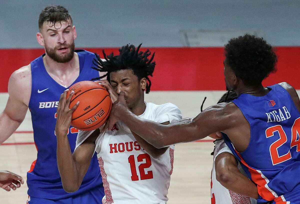 Houston freshman Tramon Mark has had a few hard knocks in making the adjustment to college basketball.