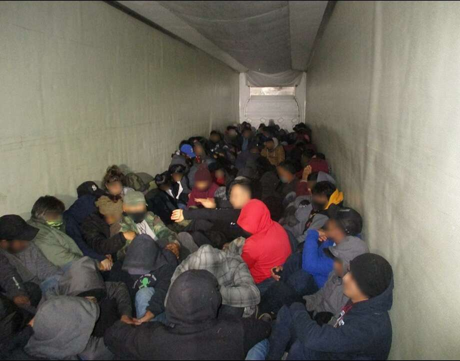 U.S. Border Patrol agents said they continue intercepting human smuggling attempts in tractor-trailers. Photo: Courtesy Photo /U.S. Border Patrol