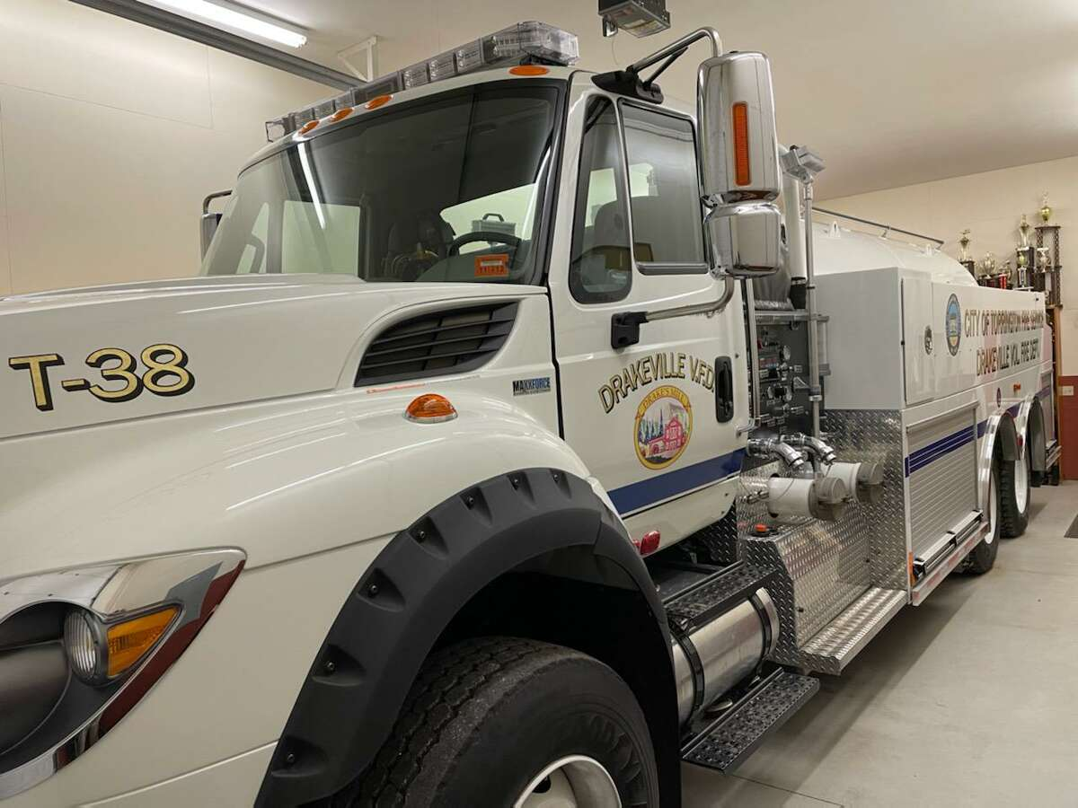 Drakeville Volunteer Fire Department's engine No. 38.