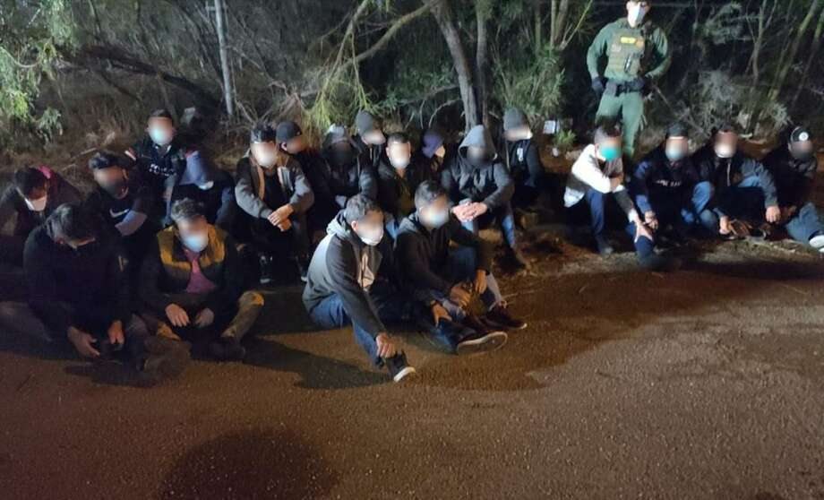 U.S. Border Patrol agents detained 48 immigrants after a concerned citizen reported multiple vehicles dropping off people near a transportation lot on Union Pacific Boulevard. Photo: Courtesy Photo /U.S. Border Patrol