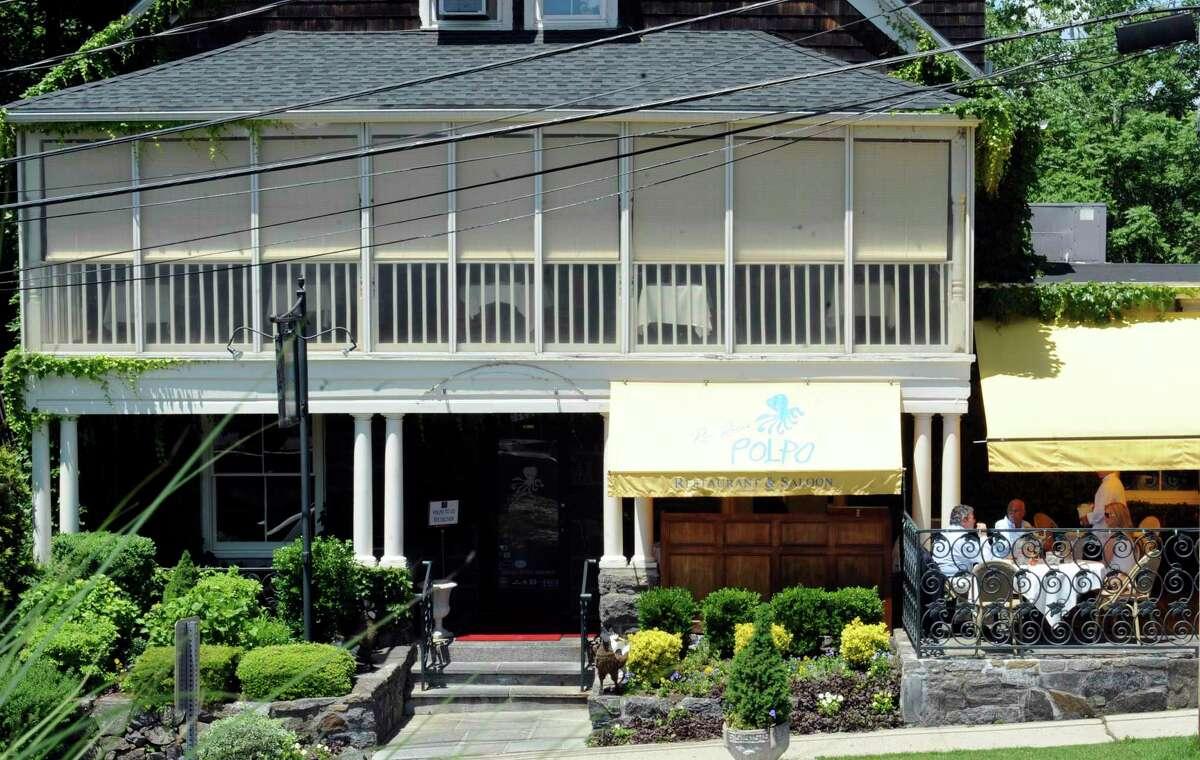 Exterior scene at the popular Polpo restaurant on May 31, 2012.