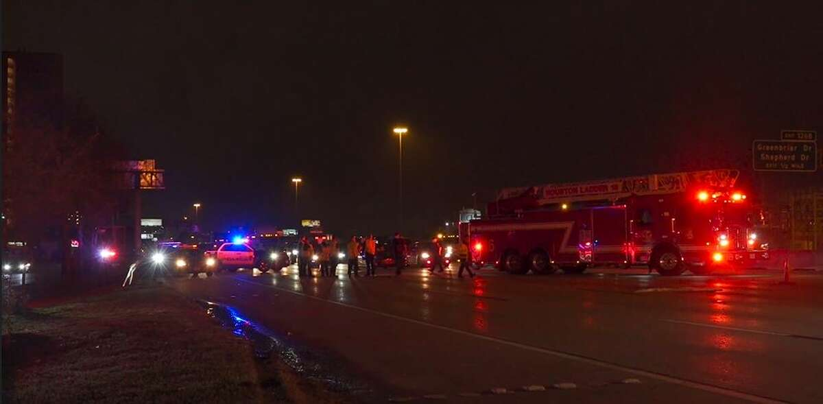 Houston police investigated a fatal hit-and-run early Saturday on the Southwest Freeway near Kirby Drive.