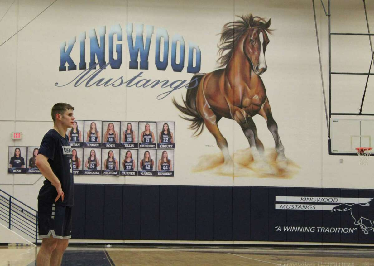 Kingwood senior point guard Billy Gould scored his 1,000th career point this season for the Mustangs. He has played on varsity since his sophmore season.