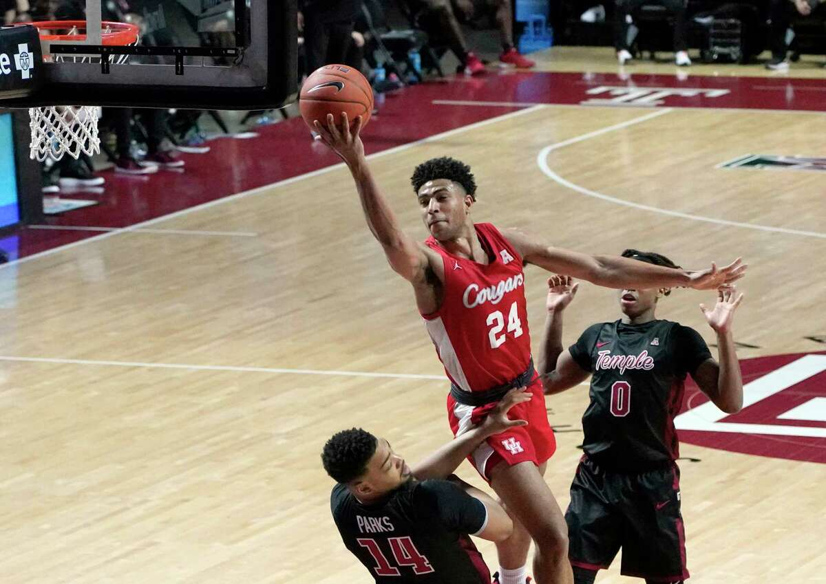 Houston's Quentin Grimes averaged 16.5 points, 8.0 rebounds and 4.0 assists in two games last week.