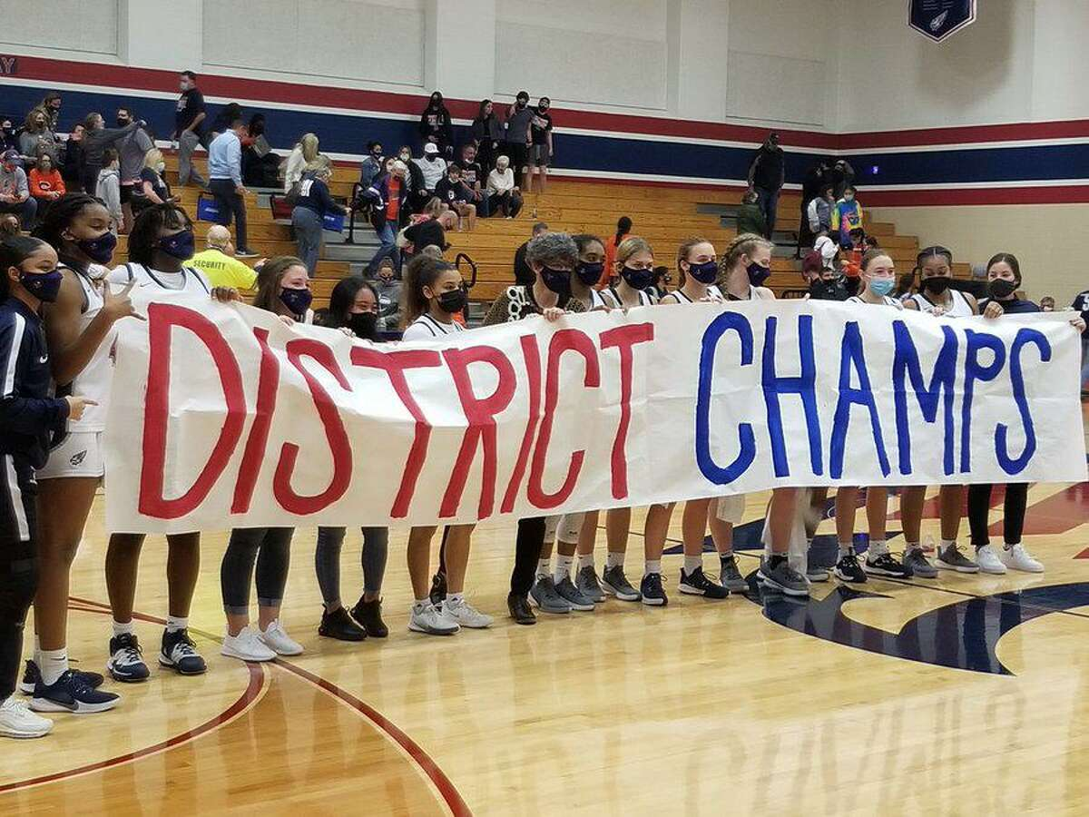 The Tompkins girls basketball team clinched its second consecutive District 19-6A championship Jan. 22 with a 66-47 victory against Seven Lakes. The Falcons improved to 16-3 overall, 11-0 in district.