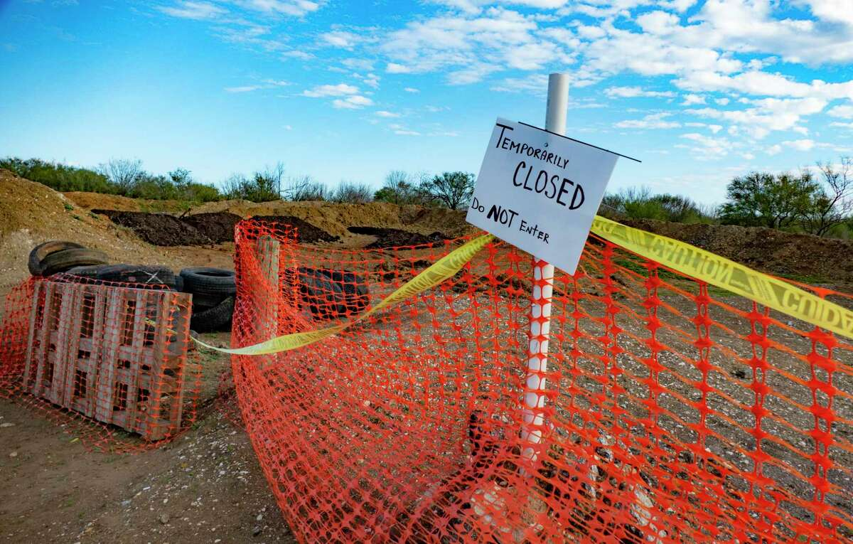 The shooting range at the 281 Country Club is temporarily closed on Friday, Jan. 22, 2021.