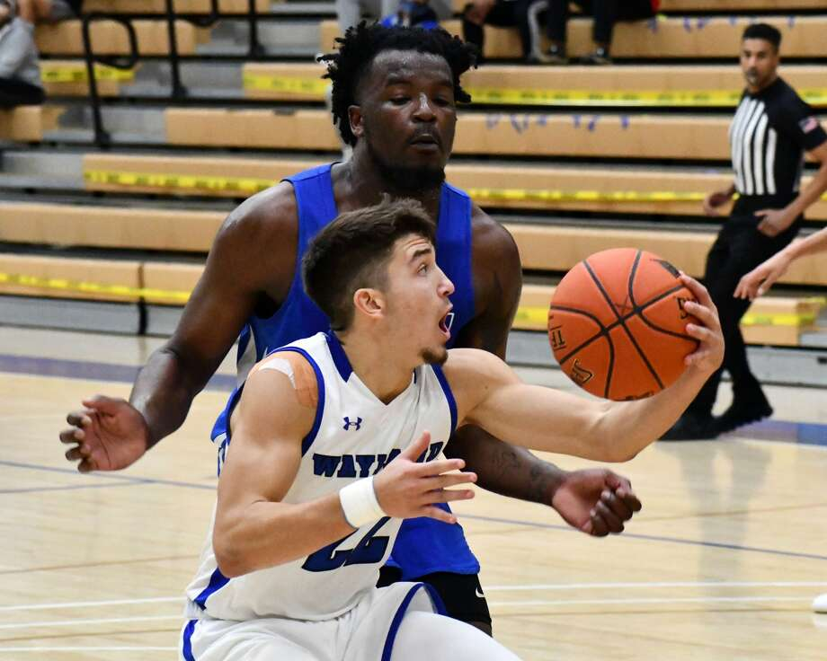 The Wayland Baptist Pioneers suffered a 72-67 Sooner Athletic Conference loss to No. 22 John Brown on Saturday in the Hutcherson Center. Photo: Nathan Giese/Planview Herald