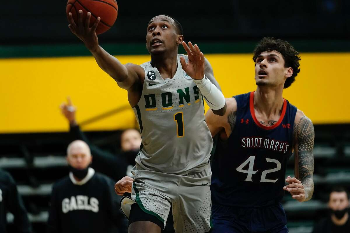 USF's Jamaree Bouyea ranks sixth in the WCC in scoring (17.5) and fifth in field-goal percentage (49.8).
