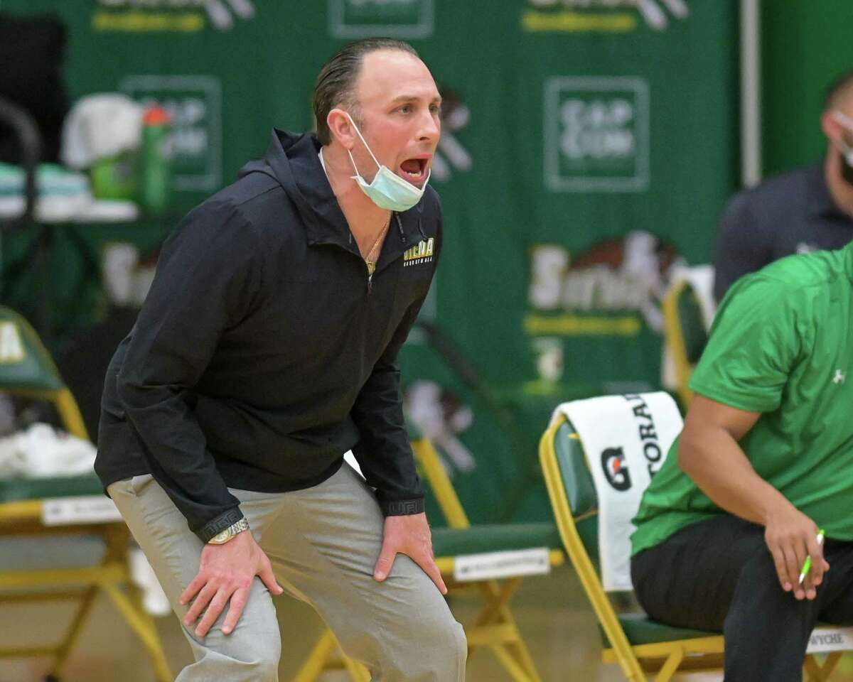 Siena coach Carmen Maciariello and his team are currently on pause. (Jim Franco/Special to the Times Union)