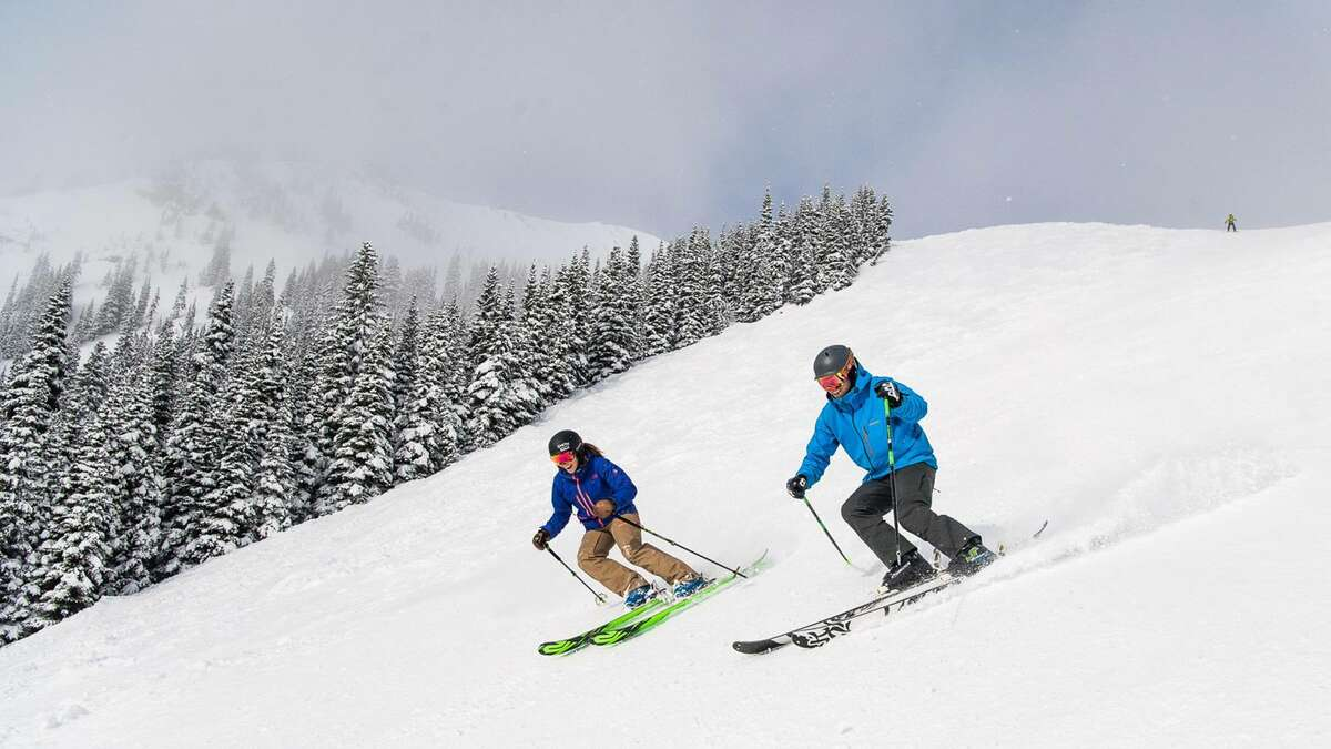 Skiing at Crystal Mountain.