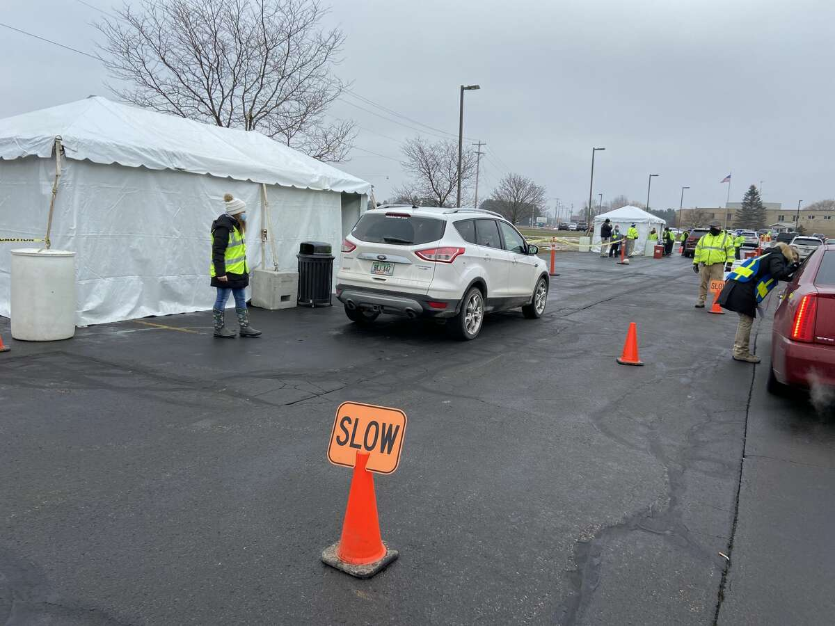 Munson Healthcare Manistee Hospital had its first drive-thru COVID-19 vaccine clinic on Jan. 14.