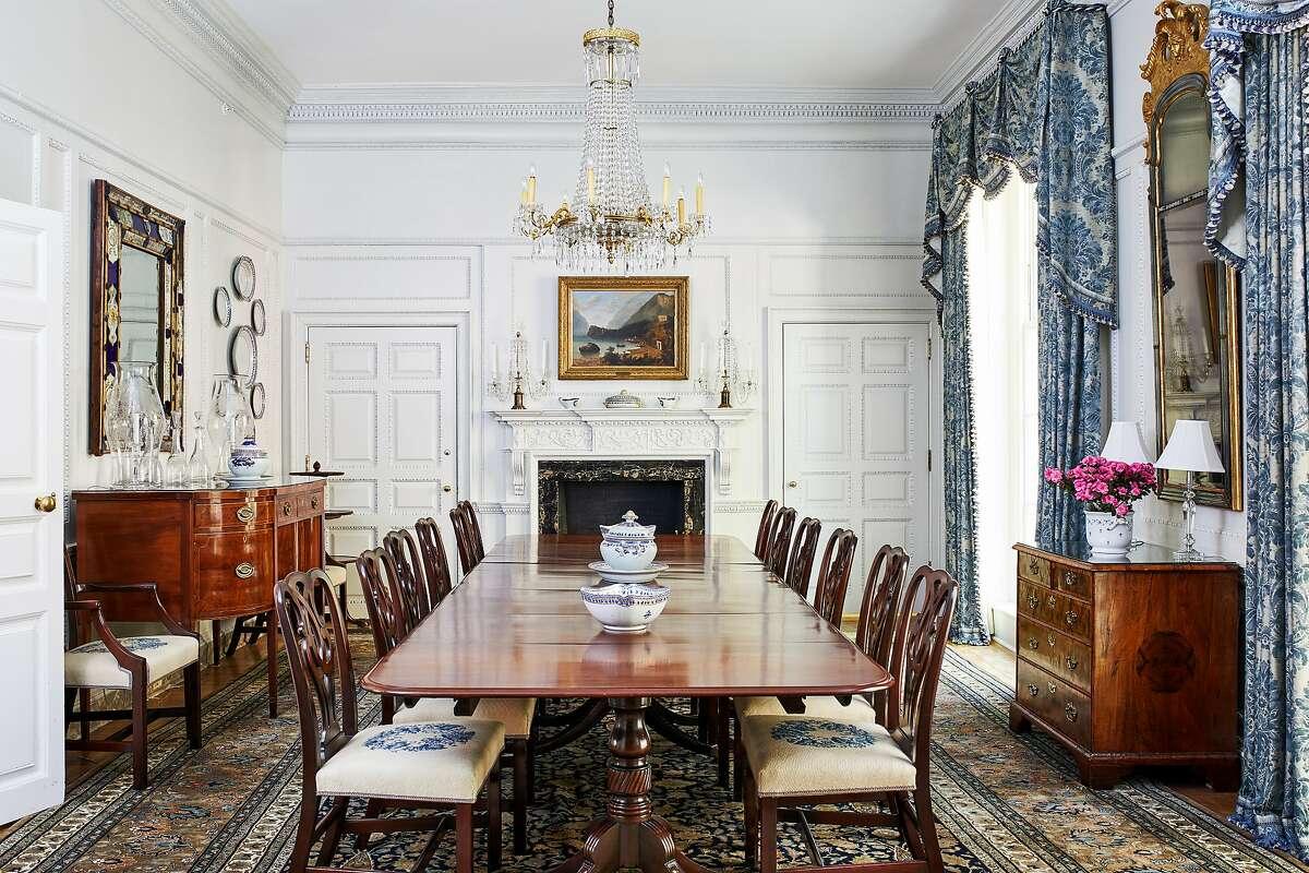Blair House features regal decor.