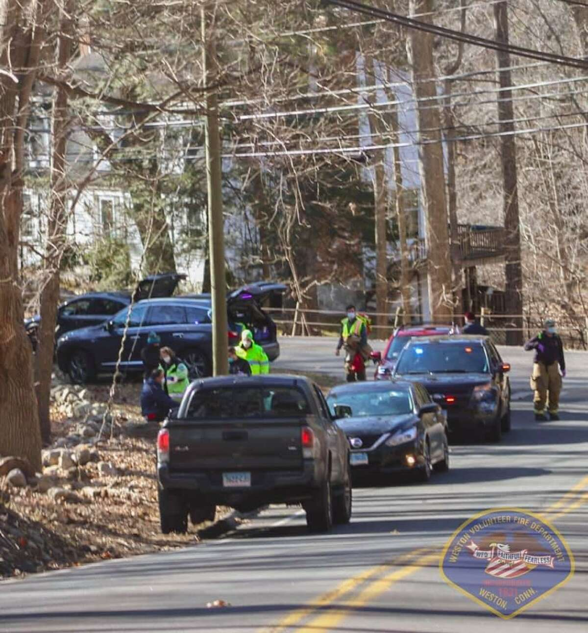 Authorities in Weston responded to a motor vehicle accident involving a bicycle Sunday afternoon.