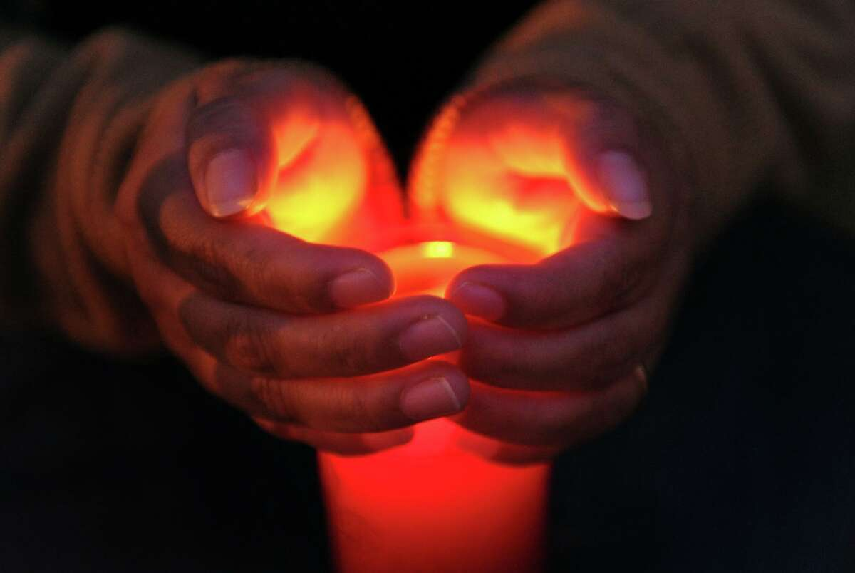 A file photo from a candlelight vigil in Bridgeport, Conn.