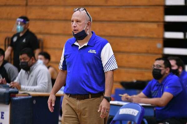 St. Augustine High School Boys Basketball Head Coach Rodrigo Romo, Saturday, Nov. 28, 2020.
