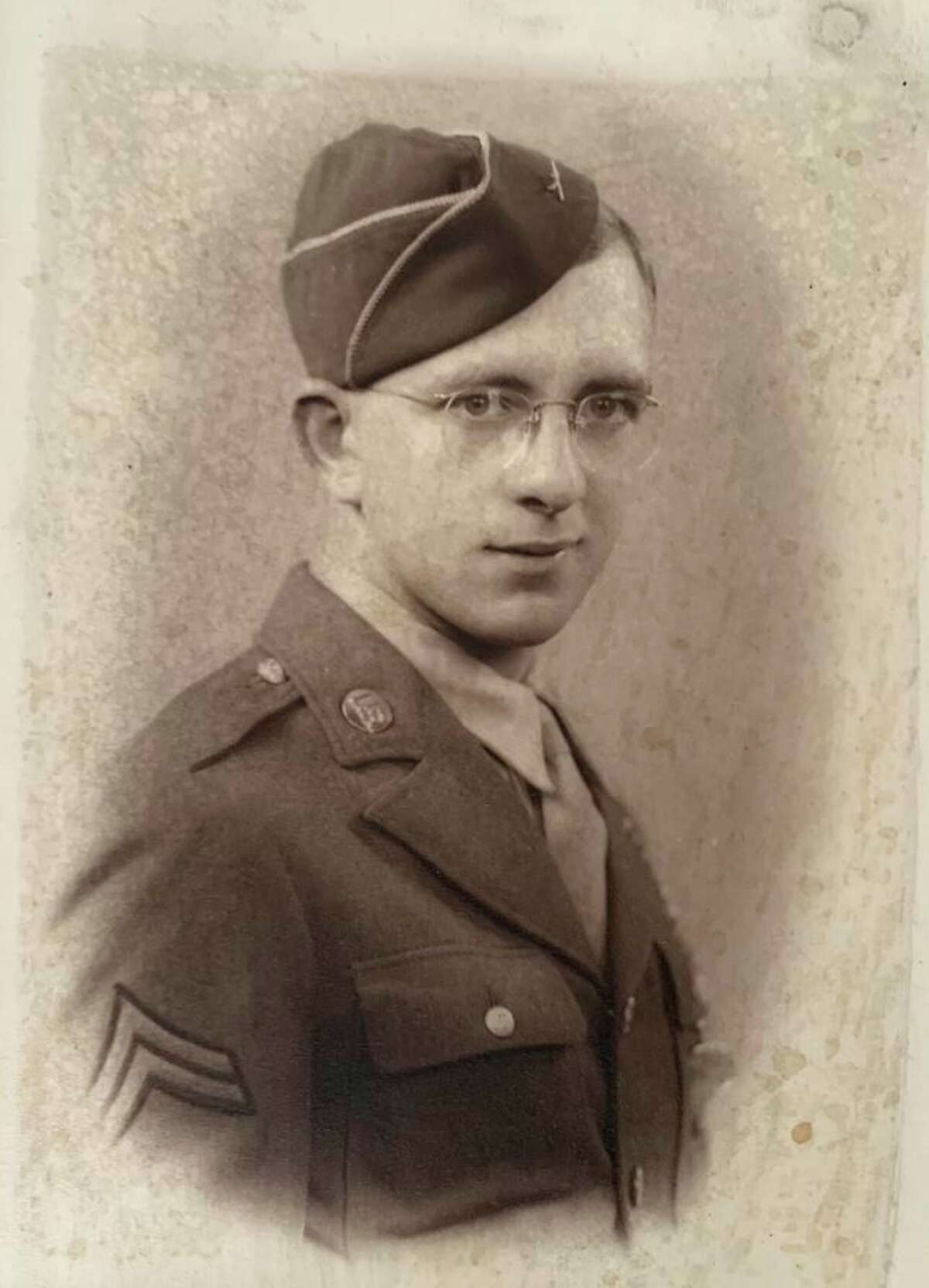 Sergeant Edwin O. Pochert was striped of his stripes after in incident in WWII, with the promise to have them reinstated. After receiving an honorable discharge shortly after, following an injury, his rank remained recorded as a Private First Class. His work to reinstate his stripes was passed down to his daughter after his passing in 2012. (Courtesy Photo)