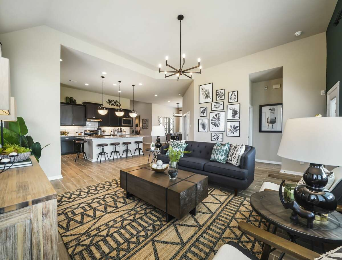 Chesmar's Hillcrest plan is a one-story design that features four bedrooms with a game room option; three baths and a two-car attached garaged and a covered patio.