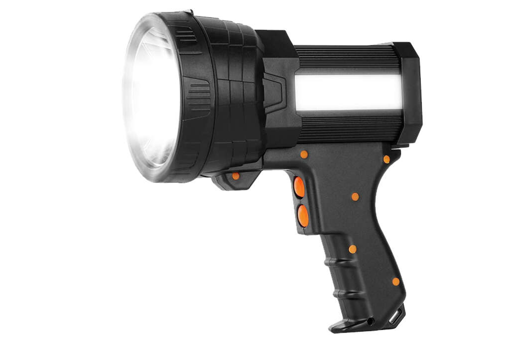 Super Bright Spotlight, 6000 High Lumens Rechargeable Spot Lightfor $23.99 at Amazon [Promo Code 40496HUO]